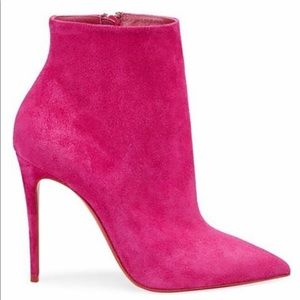 CLB So Kate 100 Suede Booties - Fuchsia